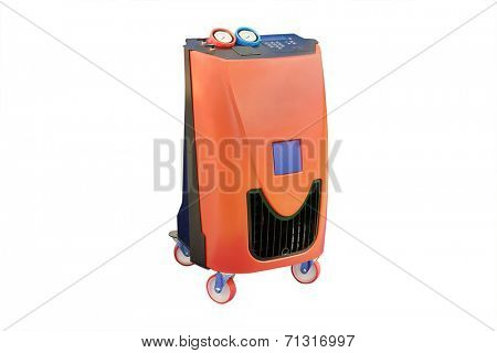The device for air-conditioner check under the white background