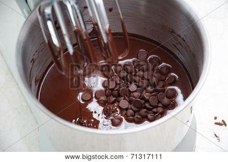 Mixing Chocolate Dough