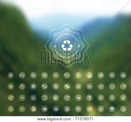 ecology blurred background