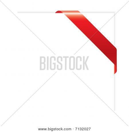 Ilustración de vector de cinta esquina vacía de rojo para su diseño