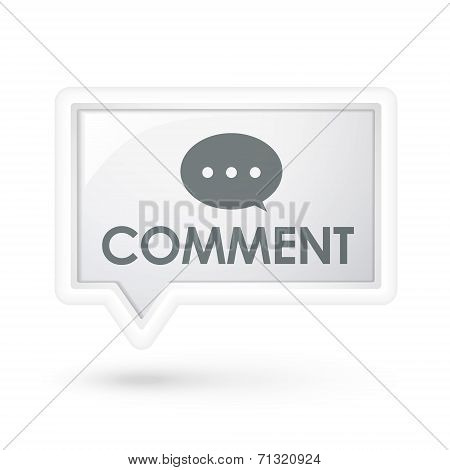 Comment Word On A Speech Bubble