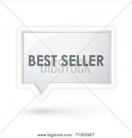 Best Seller Words Icon On A Speech Bubble