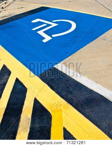 Disabled Parking Sign .