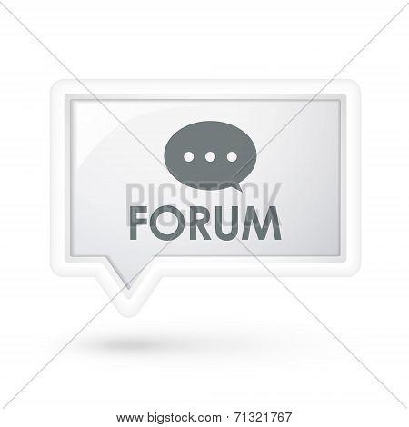 Forum Word On A Speech Bubble