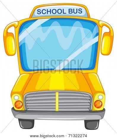 Illustration of a single school bus