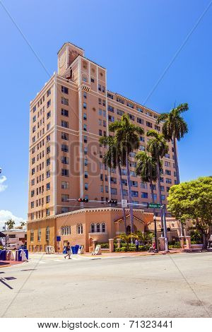 Beautiful Historic Buildings In  Miami In The Art Deco District