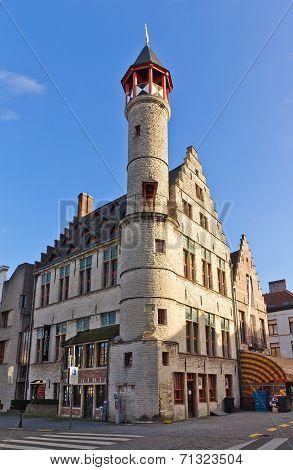 Tanners Guild House Toreken (1450). Ghent, East Flanders, Belgium