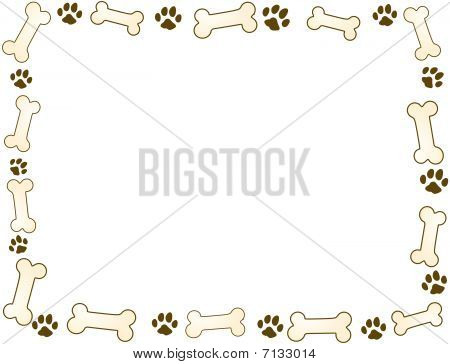 Bone And Paw Frame