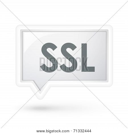 Ssl Word On A Speech Bubble