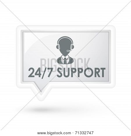 All Day Service Support Words On A Speech Bubble