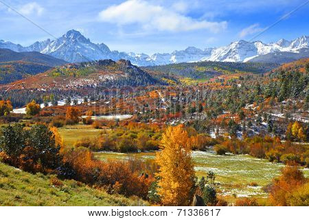 Scenic landscape near Ridgeway Colorado