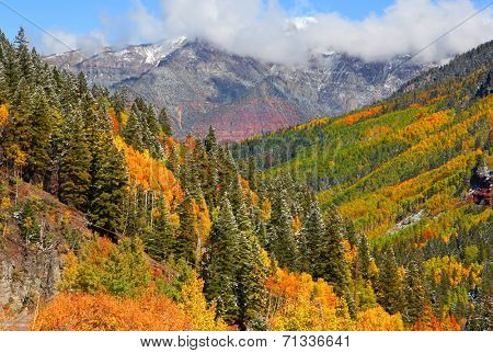 San Juan mountains landscape in autumn time