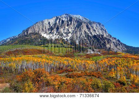Beautiful Marcelina mountain in Colorado in autumn time