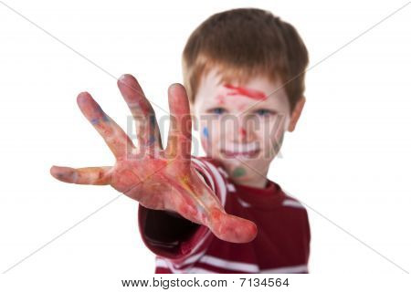 Hand Hint Of Red, With The Kid Blurred
