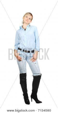 Lady In Blue Jeans.