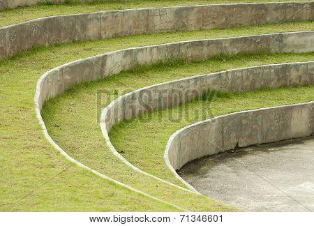 Stone Pavers green grass lawn