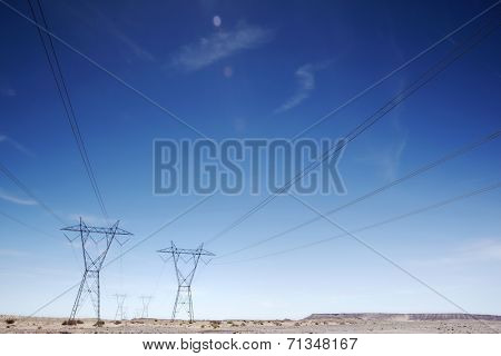 Electricty pylons USA