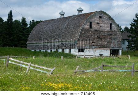 Weather Beaten White Barn