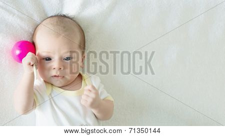 Portrait Of Caucasian Baby