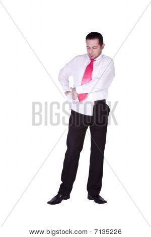 Businessman Dressing Up