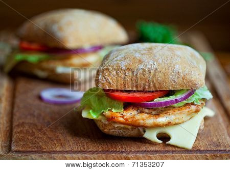 Chicken sandwiches