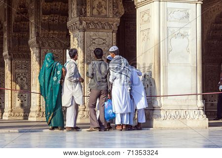 People Visit The Red Fort In Delhi