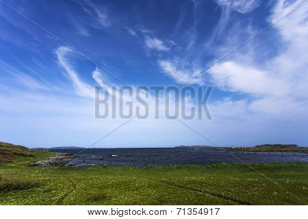 cirrus clouds, L'Anse aux Meadows