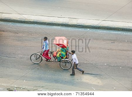 People On Motorbike In Jaipur