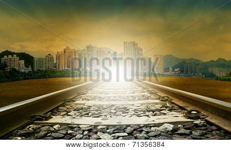 Railways And Urban Scene Use For Civil Development And Infra Structure Construction Land Transport A