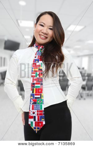 Pretty Asian Business Woman