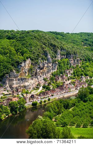 La Roque Gageac Village In The Dorgogne Region Of France