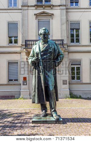 Statue Of Robert Wilhelm Bunsen In Heidelberg