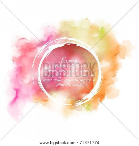 illustration of abstract watercolor background in vector
