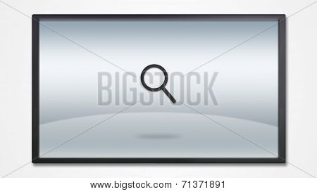Screen Display With Search Engine Icon