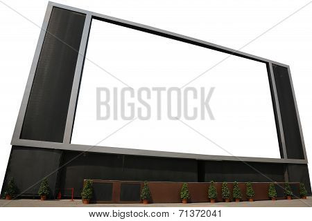 Lcd Tv With Blank Screen Isolated