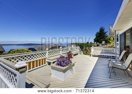 Beautiful Deck With Scenic Bay View