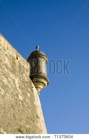Sentry Box On Old San Juan City Walls