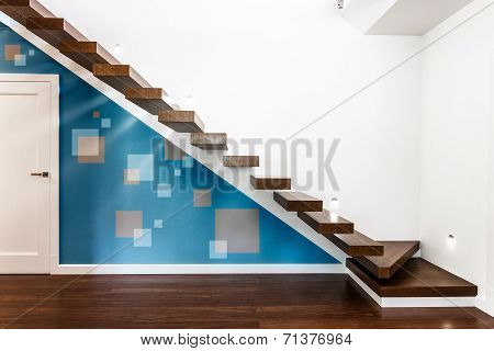 Modern Illuminated Staircase