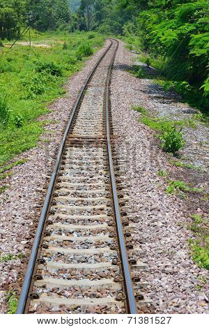 Train Tracks In Country Developing