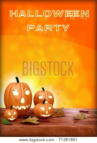 Halloween Party Design template, with pumpkin