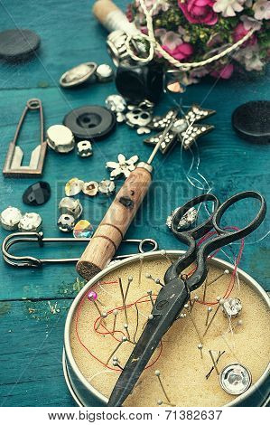sewing tools and jewelry
