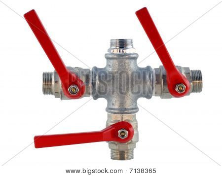 Pipes And Valves For The Water Drain