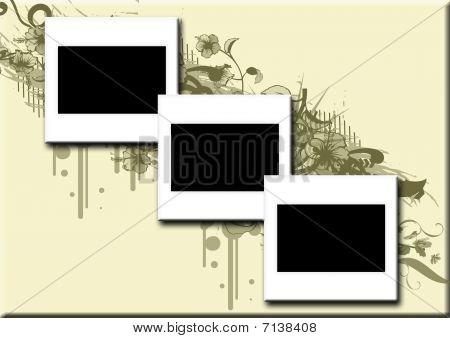 3 blank slides vector