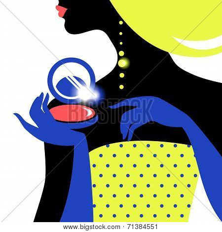 Fashion woman silhouette