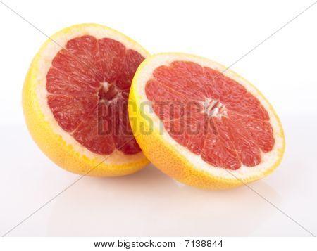 Fresh Juicy Red Grapefruit