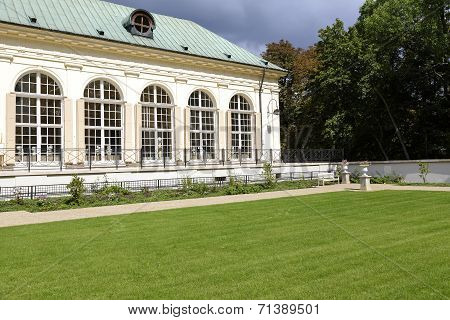 Old Orangery In Lazienki In Warsaw In Poland