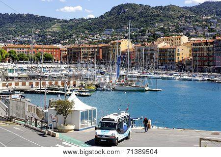 Port Lympia In Nice In France