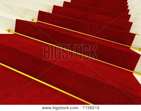Carpet On Marble Stait