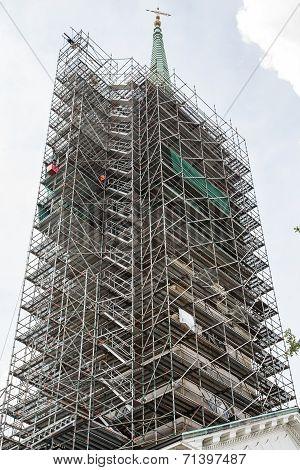 Scaffolding Around Massive Steeple