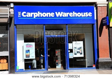Carphone Warehouse retail outlet